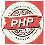 Logo Plastik Hitam Pizza Delivery